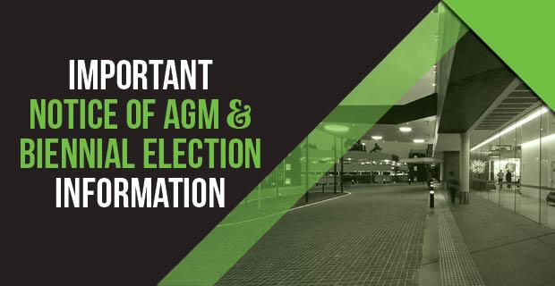 AGM Notice 2020