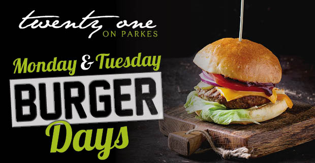 Monday & Tuesday Burger Days